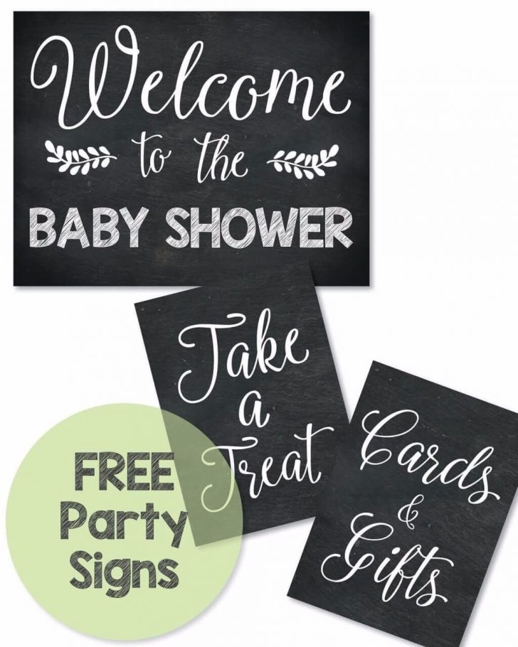 Free Printable Baby Shower Table Signs