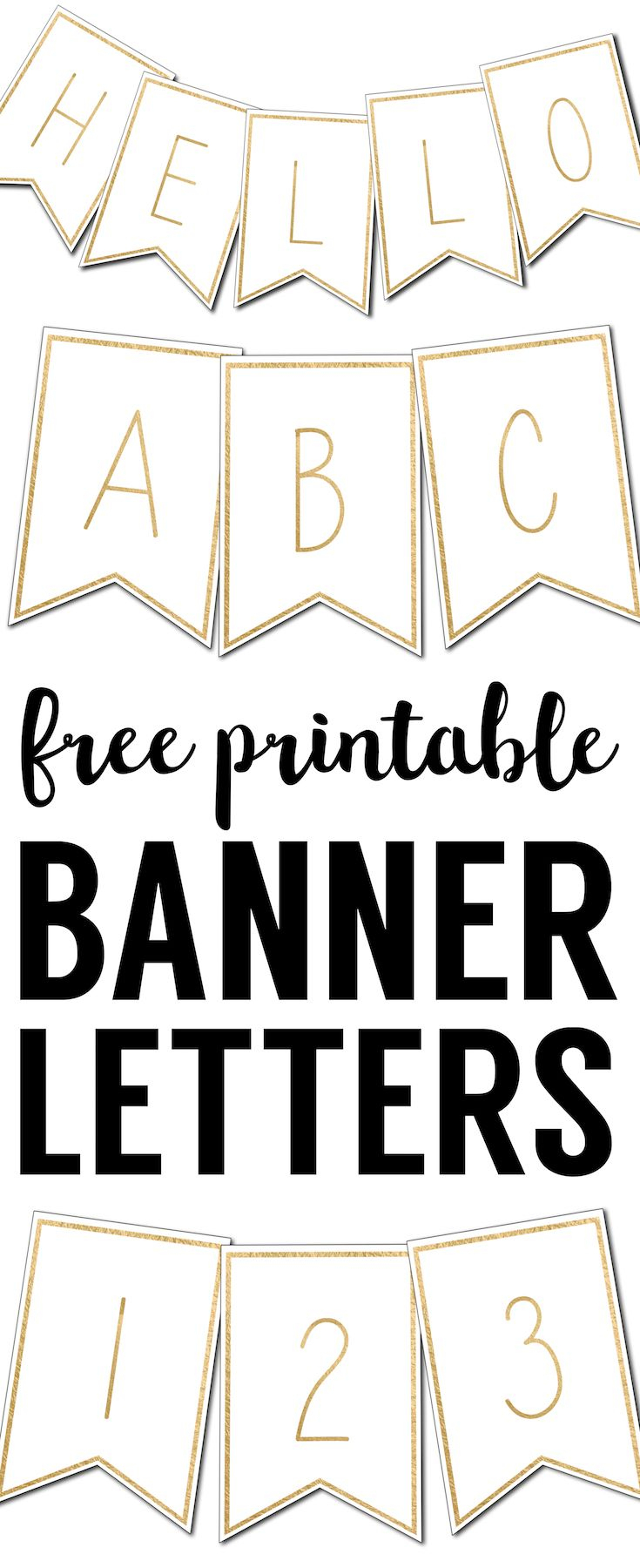 Free Printable Banner Letters Templates | Krštenje | Pinterest - Printable Banner Letters Template Free
