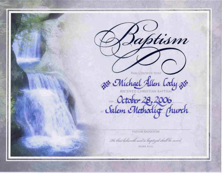 Free Online Printable Baptism Certificates