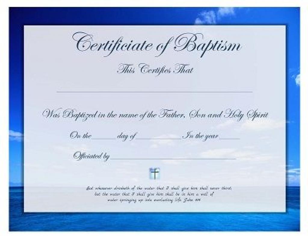 Free Printable - Baptism Certificate Template | Prayers, Quotes For - Free Printable Baptism Certificate