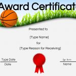 Free Printable Basketball Certificates | Customize Online   Basketball Participation Certificate Free Printable