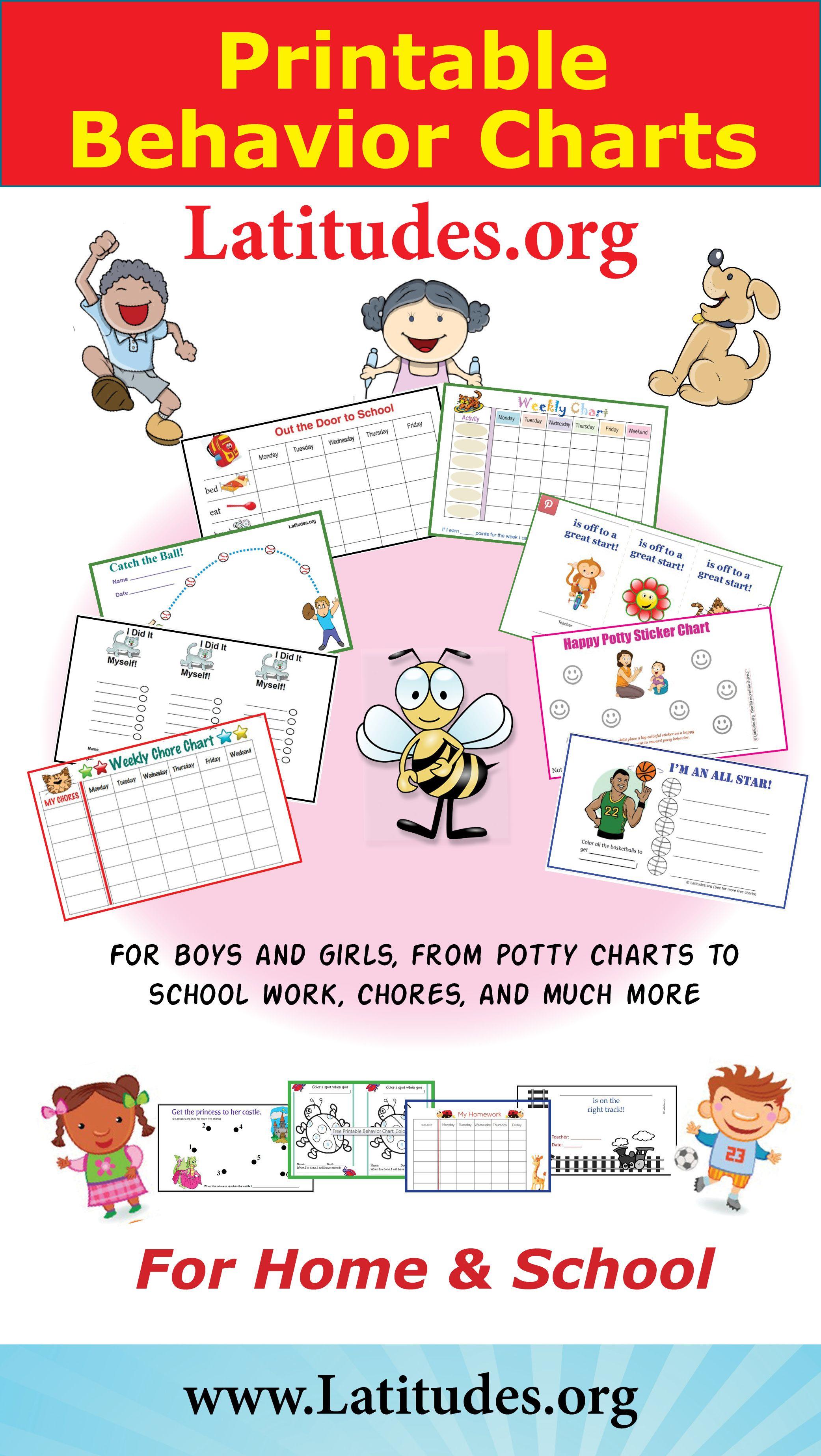 Free Printable Behavior Charts For Home And School | Behavior Charts - Free Printable Charts For Teachers