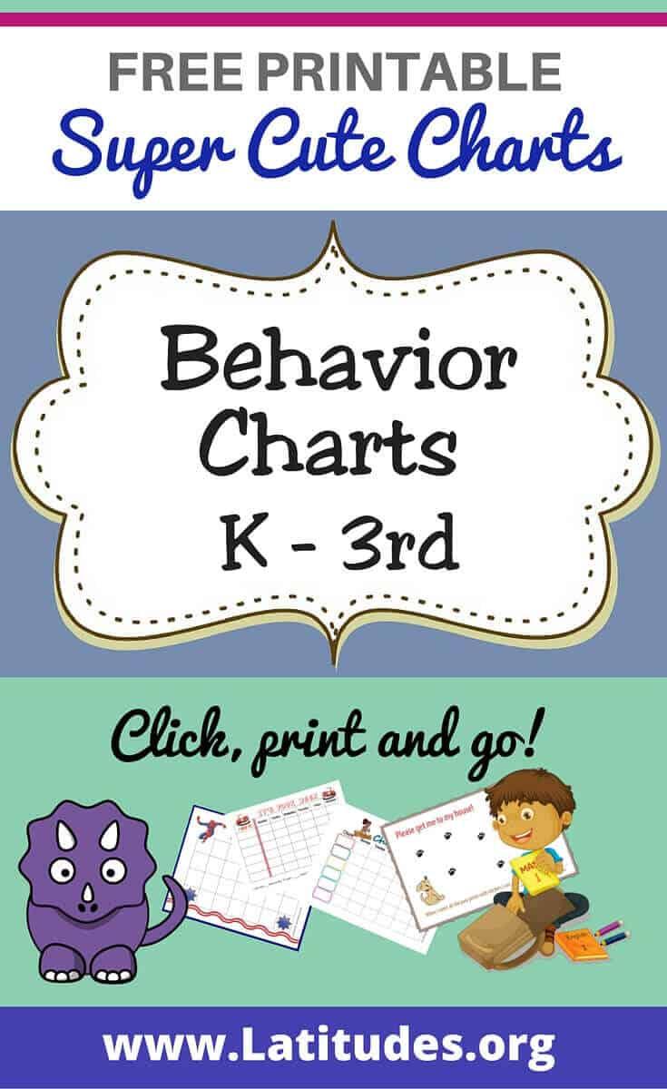 Free Printable Behavior Charts For Teachers & Students (Kindergarten - Free Printable Charts For Teachers