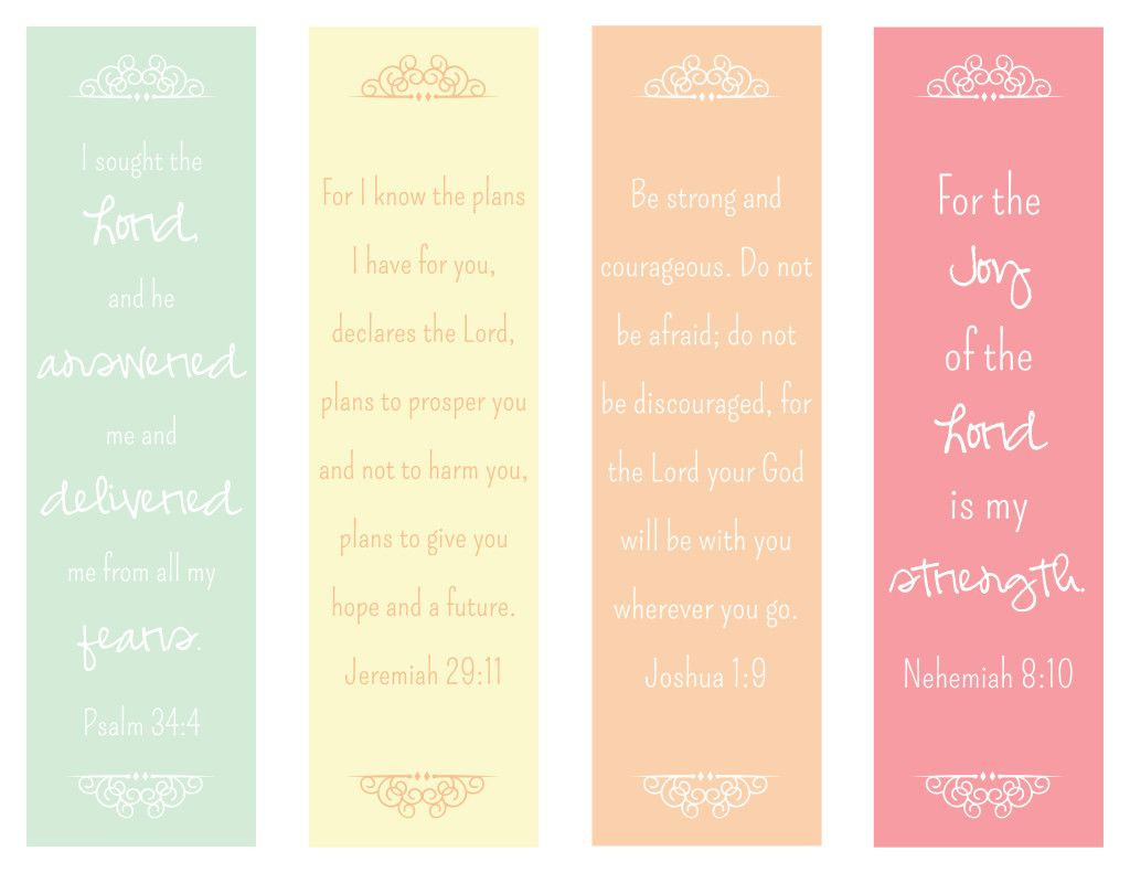 Free Printable Bible Verse Bookmarks | Esther, Nehemiah, Ezra - Free Printable Bookmarks With Bible Verses