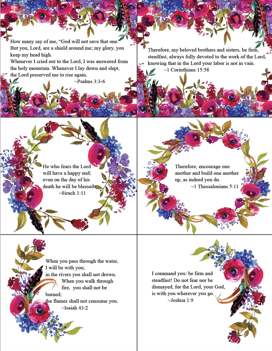 Free Printable Bible Verse Cards For When You Need Encouragement - Free Printable Bible Verses