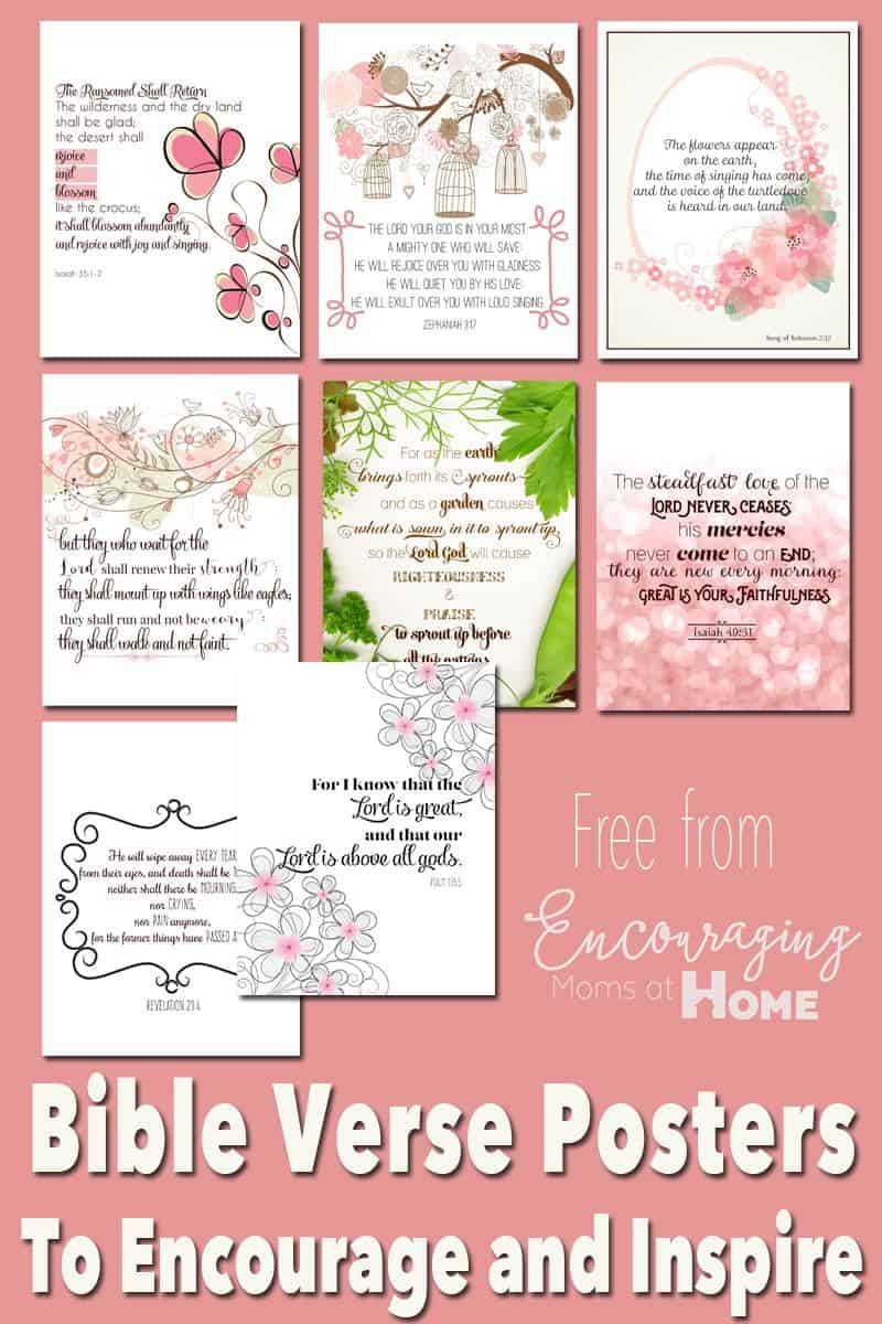 Free Printable Bible Verses To Encourage And Inspire Homeschool Moms - Free Printable Scripture Verses
