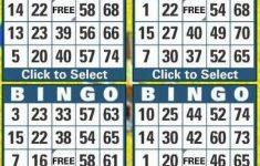 Free Printable Bingo Cards 1 75   Free Printable - Free Printable Bingo Cards 1 75