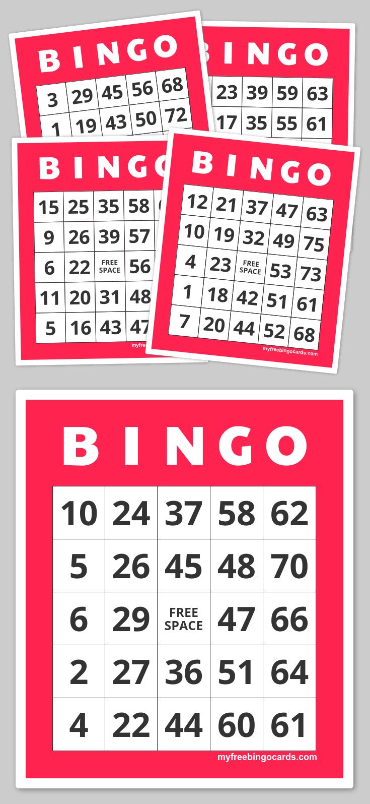 Free Printable Bingo Cards | Family Nights Education | Pinterest - Free Printable Bingo Cards 1 75