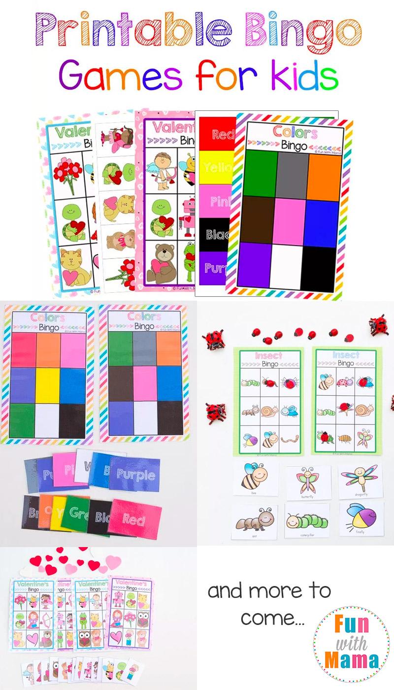 Free Printable Bingo Cards For Kids - Fun With Mama - Free Printable Bingo