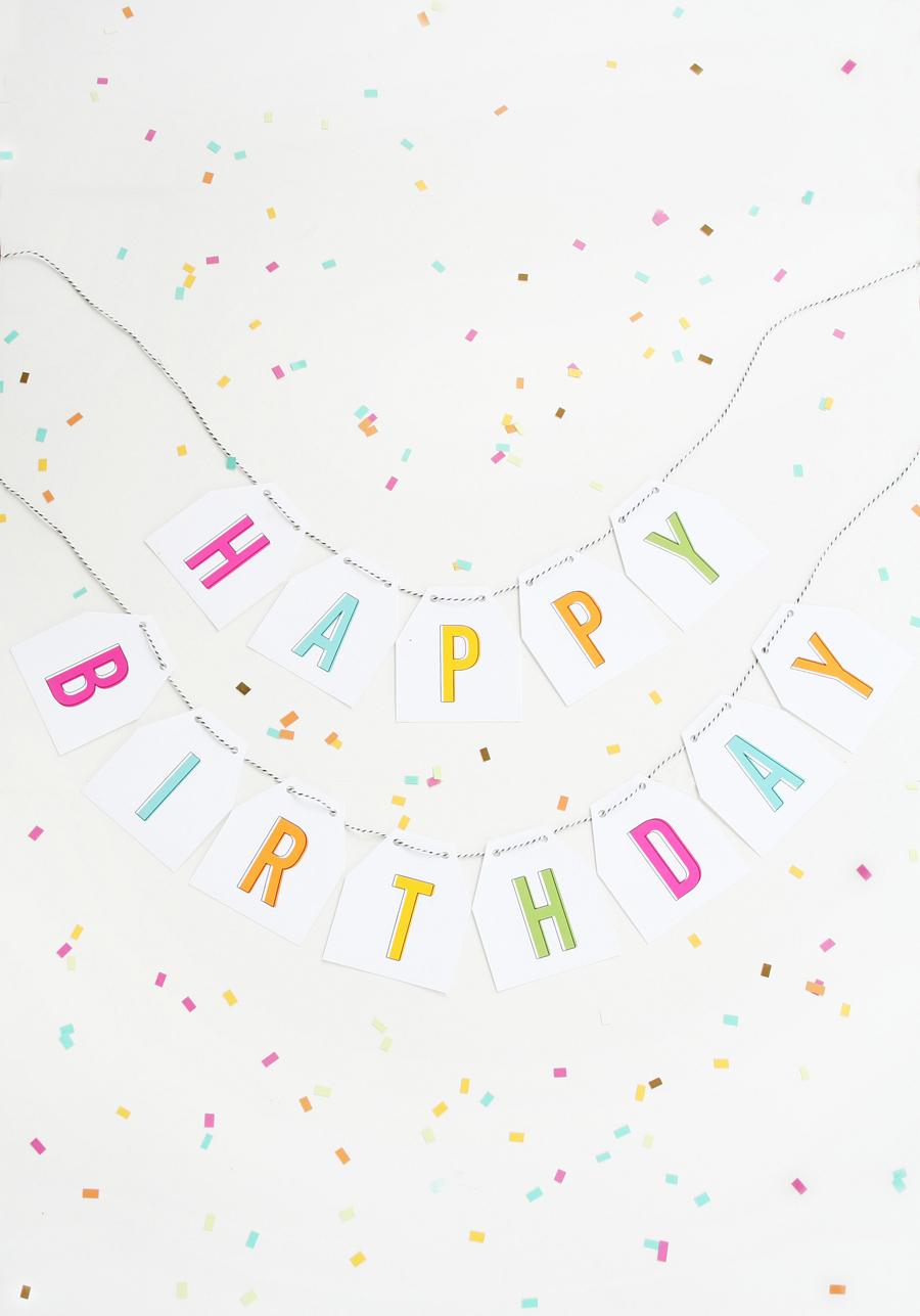 Free Printable Birthday Banner - Free Printable Birthday Banner
