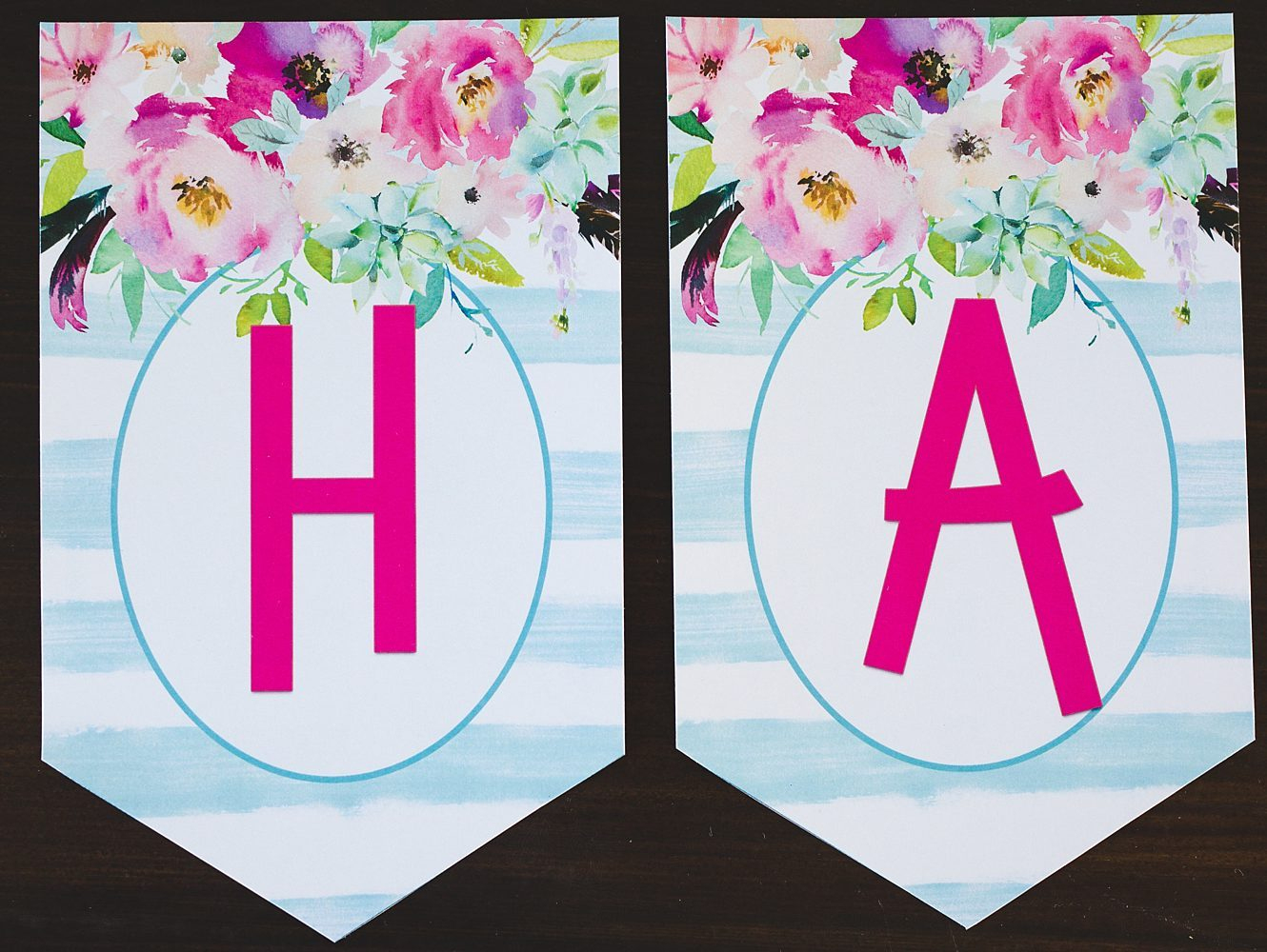 Free Printable Birthday Banner - Six Clever Sisters - Free Printable Birthday Banner