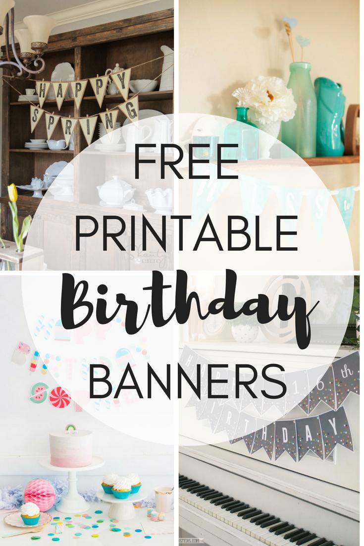 Free Printable Birthday Banners - The Girl Creative - Free Printable Birthday Banner