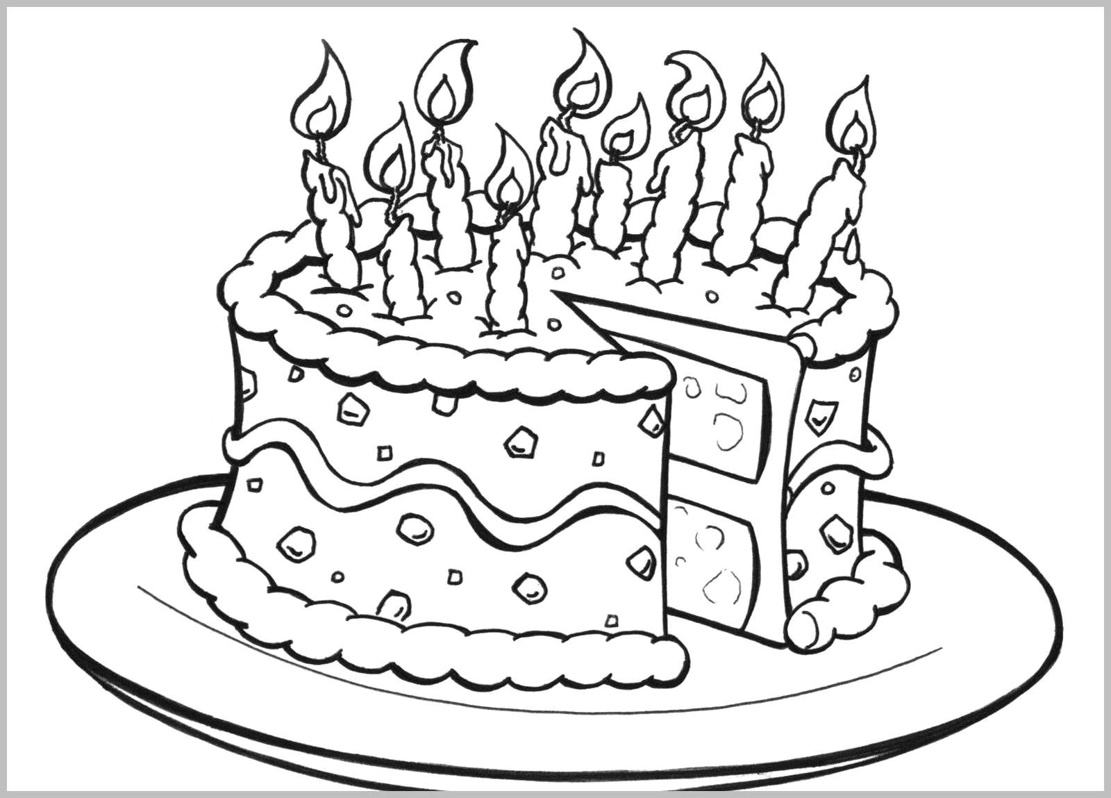 Free Printable Birthday Cake Coloring Pages For Kids Cool2Bkids - Free Printable Pictures Of Birthday Cakes
