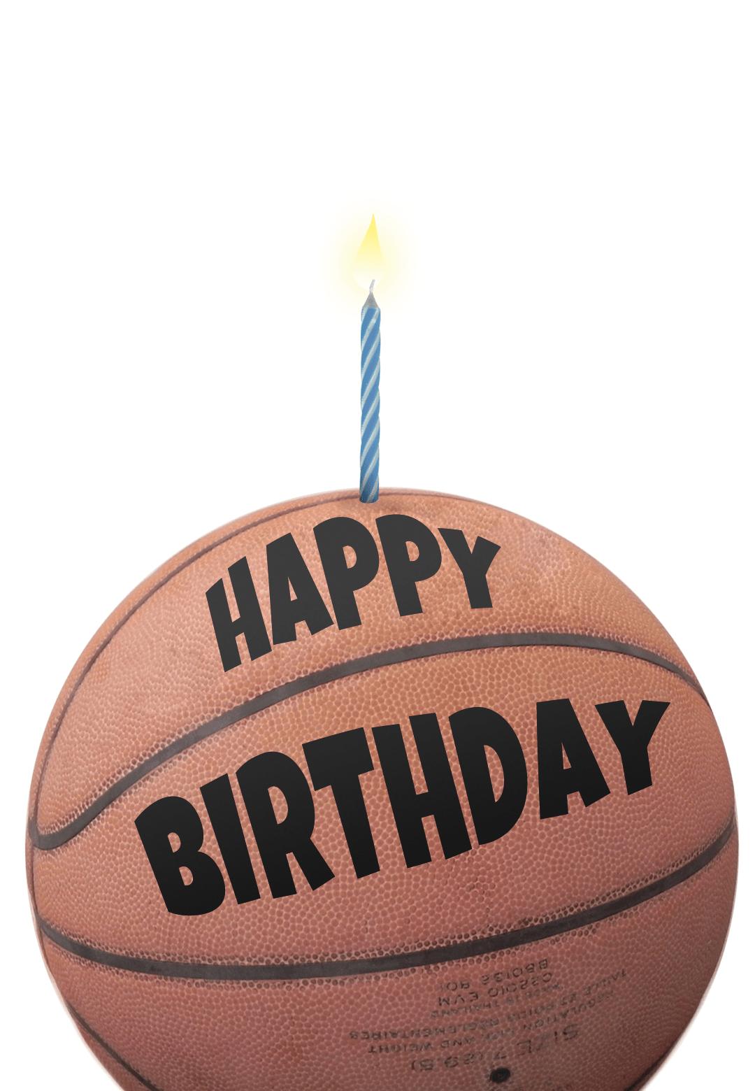 Free Printable Birthday Card - Basketball | Greetings Island - Free Printable Basketball Cards