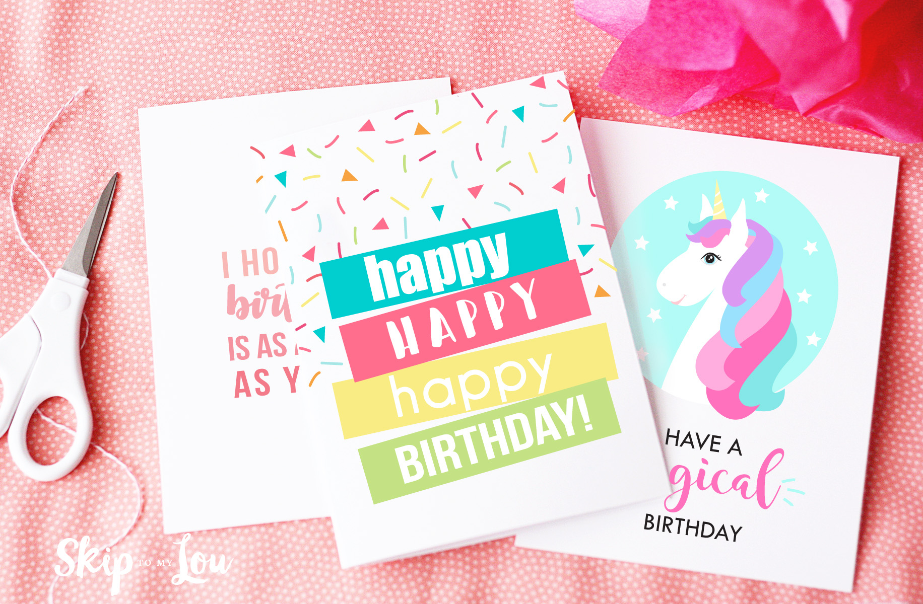 Free Printable Birthday Cards | Skip To My Lou - Free Printable Birthday Cards For Adults