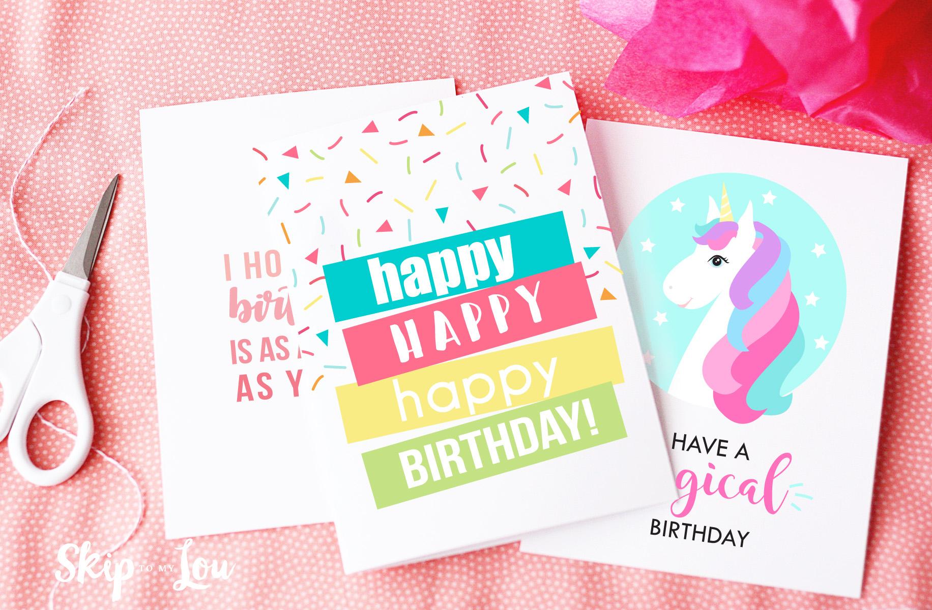 Free Printable Birthday Cards | Skip To My Lou - Free Printable Birthday Cards For Your Best Friend