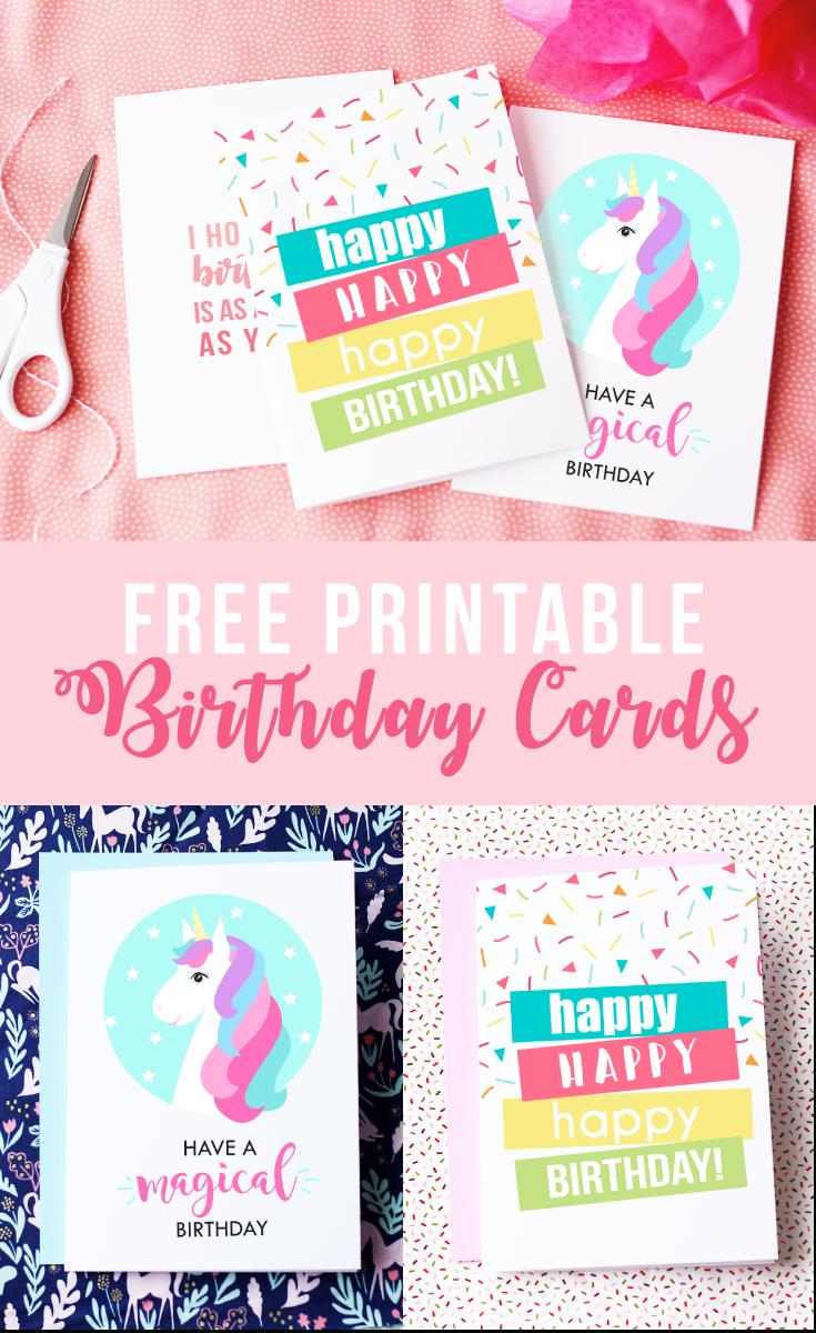 Free Printable Birthday Cards   Skip To My Lou - Free Printable Happy Birthday Cards