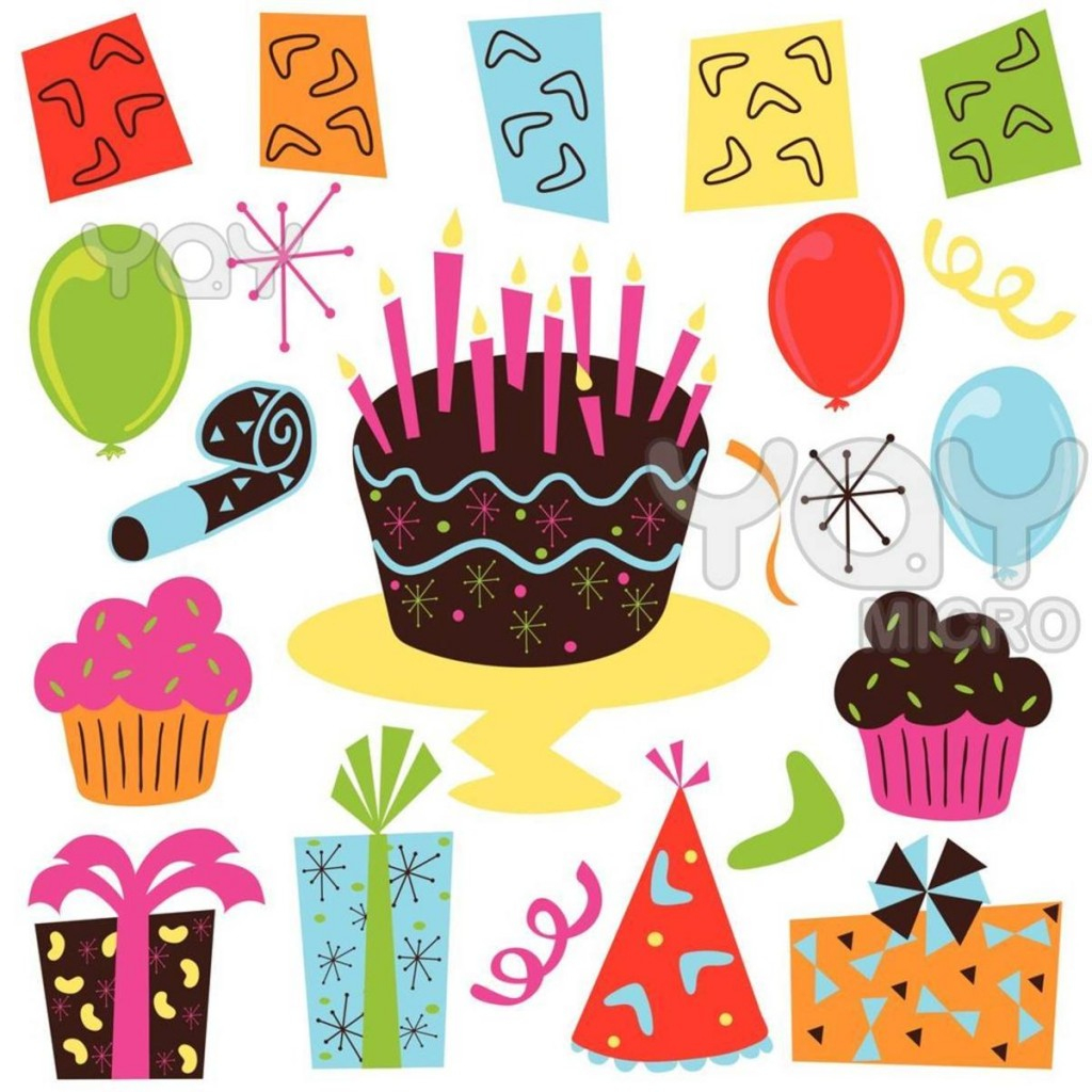 Free Printable Birthday Clip Art - Clip Art Library - Birthday Clipart Free Printable