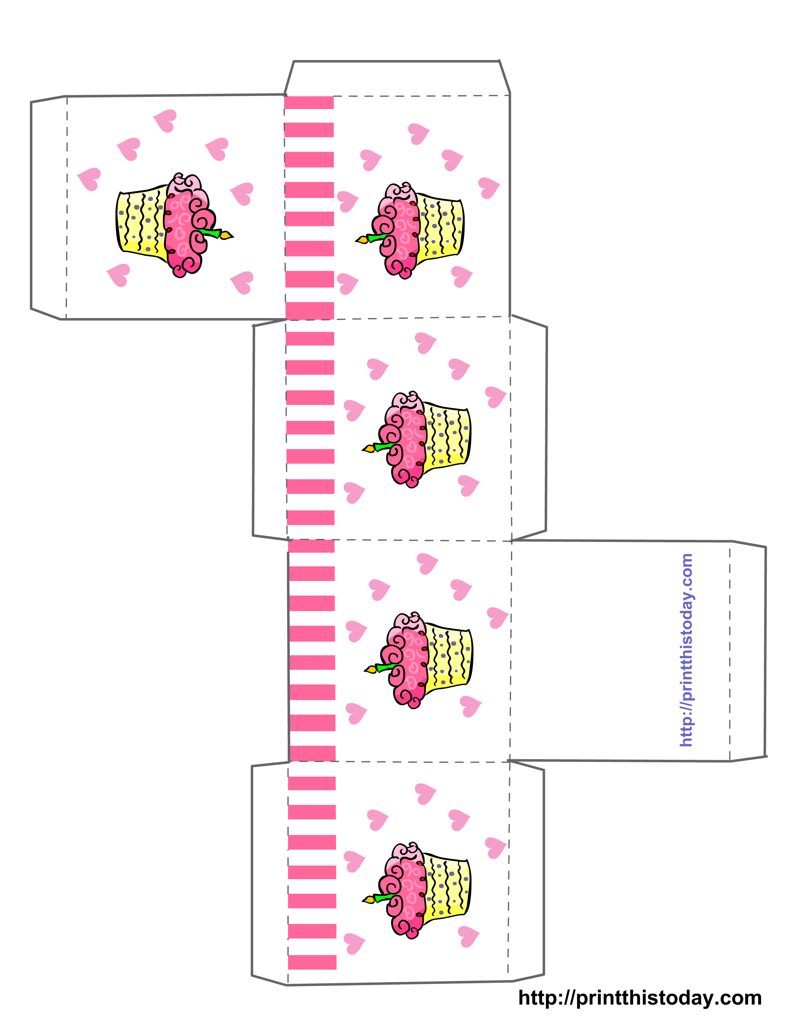 Free Printable Birthday Favor Boxes (Templates) - Box Templates Free Printable