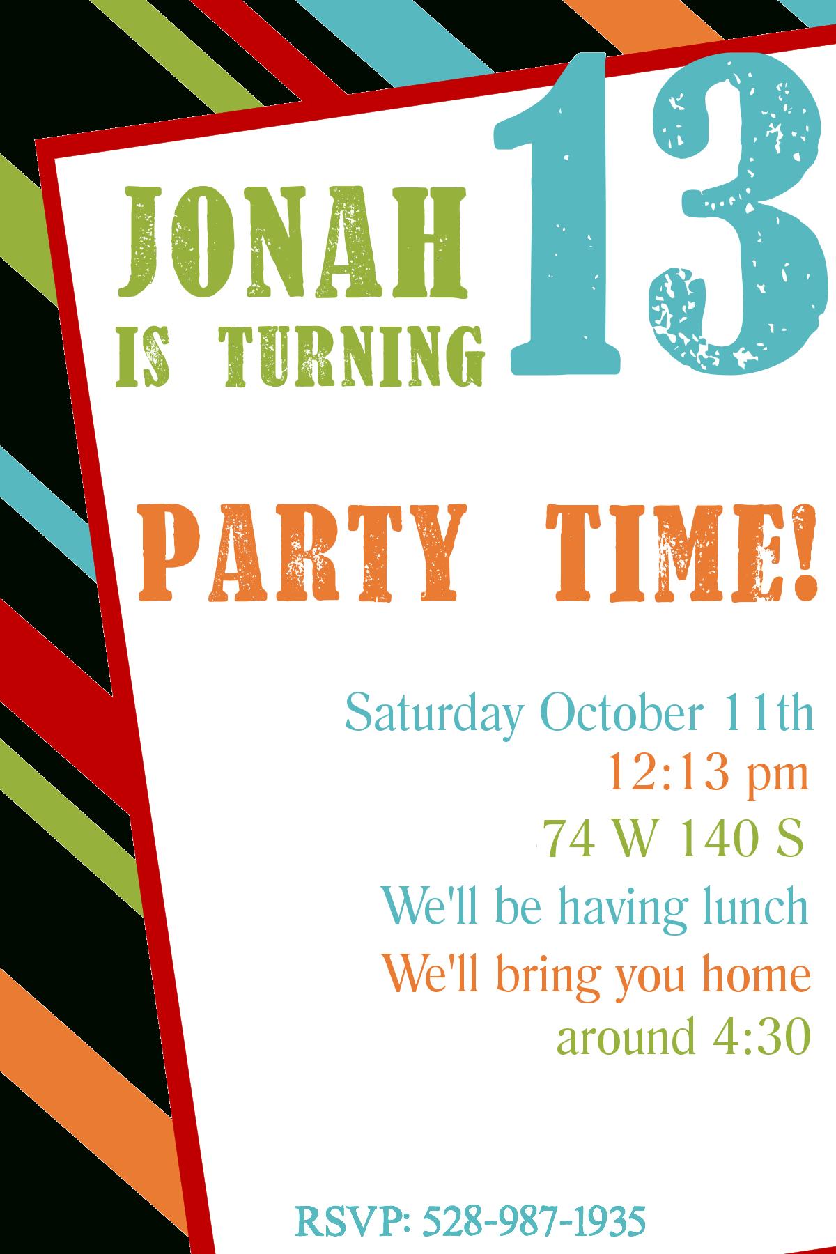 Free Printable Birthday Invitation Templates - 13Th Birthday Party Invitations Printable Free