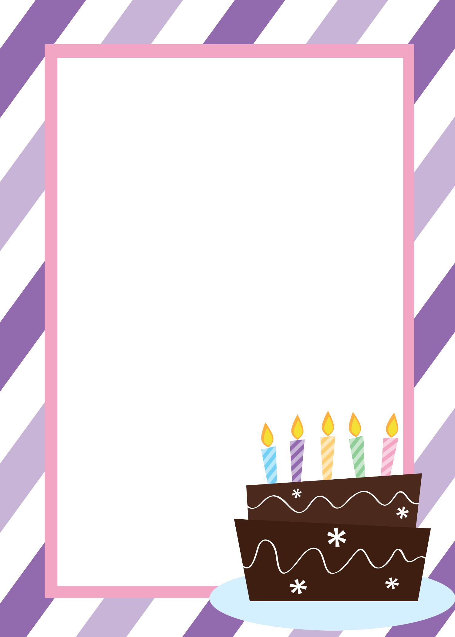 Free Printable Birthday Invitation Templates - Free Printable Birthday Invitation Templates