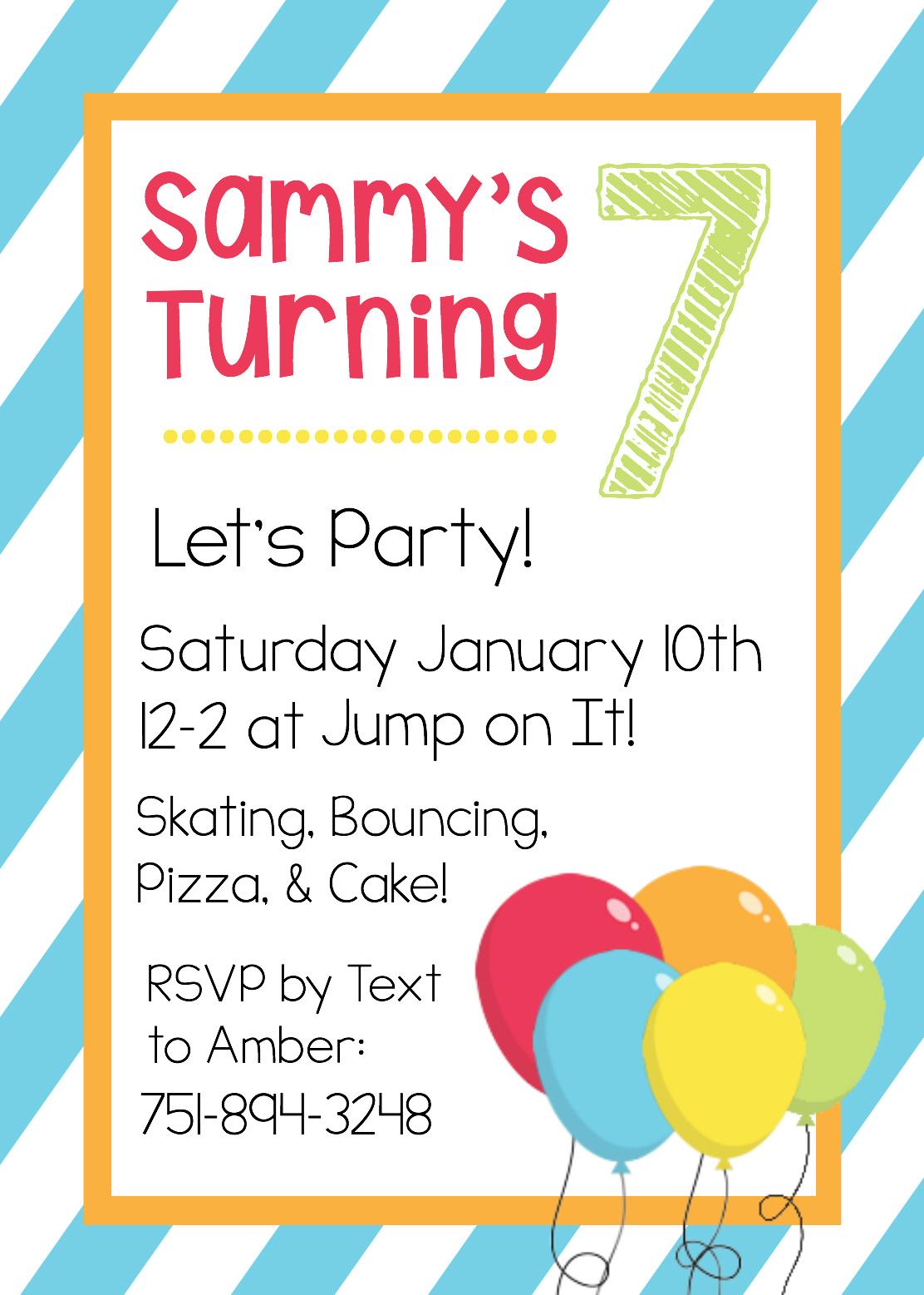 Free Printable Birthday Invitation Templates - Free Printable Personalized Birthday Invitation Cards