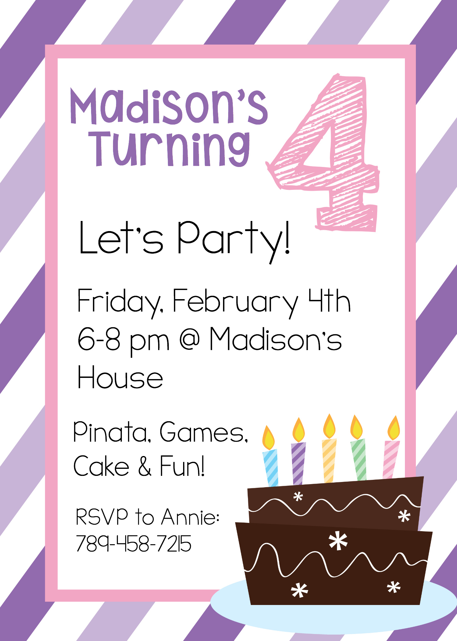 Free Printable Birthday Invitation Templates - Make Printable Party Invitations Online Free
