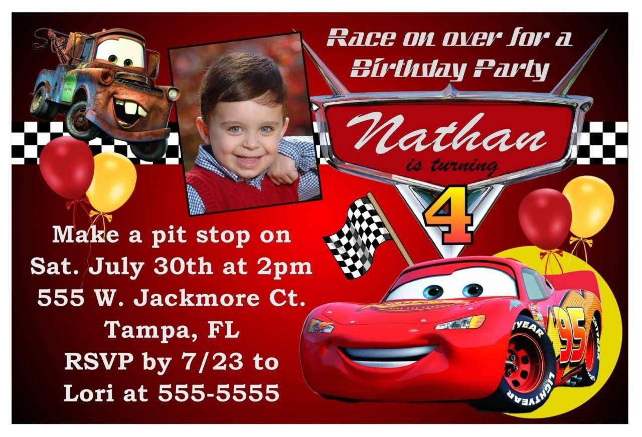 Free Printable Birthday Invitations Cars Theme | Kids Birthday In - Free Printable Birthday Invitations Cars Theme