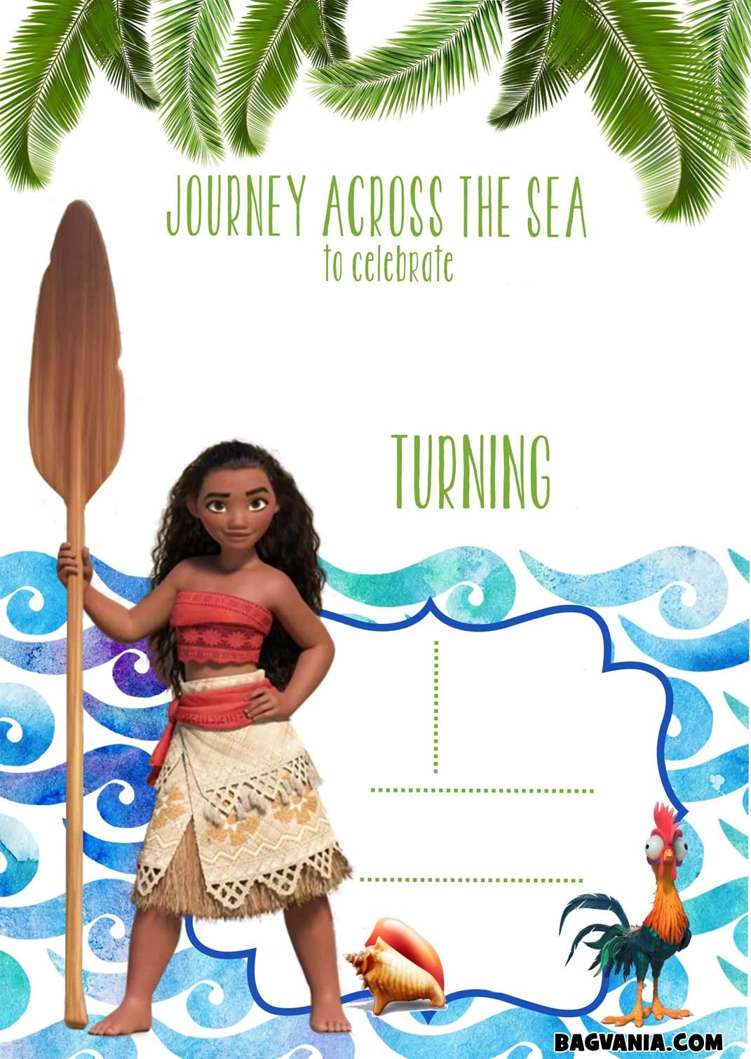 Free Printable Birthday Party Invitation Spectacular Free Printable - Free Moana Printable Invitations