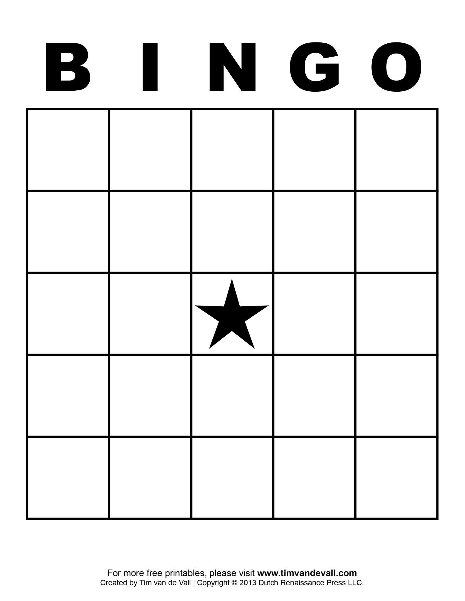 Free Printable Blank Bingo Cards Template 4 X 4 | Classroom | Sight - Free Printable Bingo