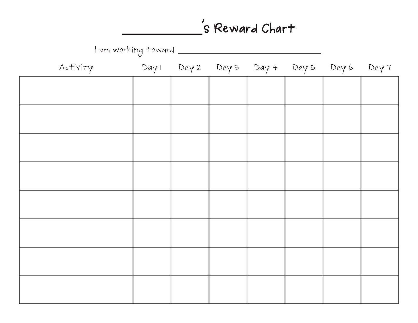 Free Printable Blank Charts | Printable Blank Charts Image Search - Free Printable Reward Charts