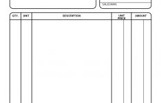 Free Printable Blank Invoice