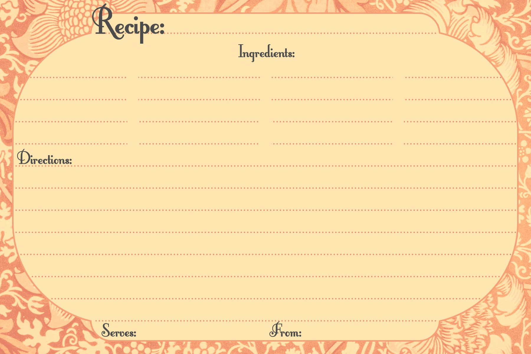 Free Printable Blank Recipe Cards 4X6 Download Them And Try To - Free Printable Photo Cards 4X6