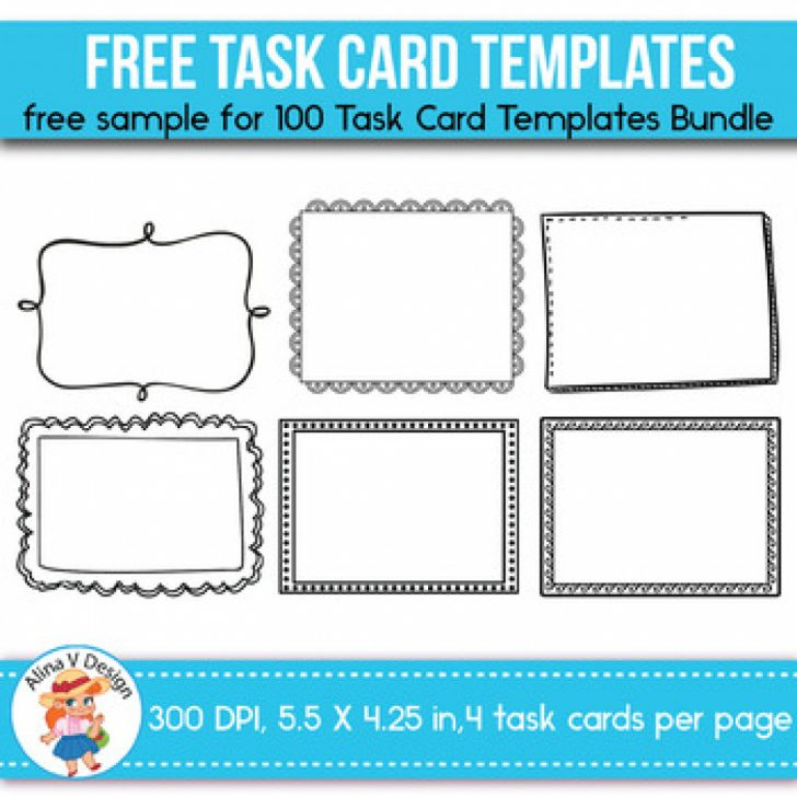Free Printable Blank Task Cards