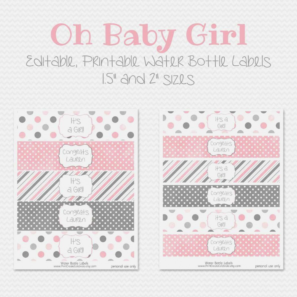 Free Printable Blank Water Bottle Label Template Fresh Baby Shower - Free Printable Water Bottle Label Template