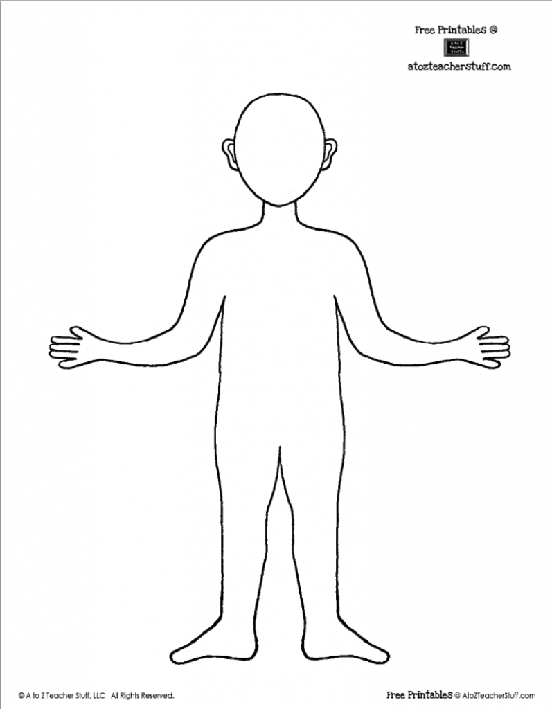 Free Printable Body Outline Template | Teaching: Free Printables - Free Printable Human Body Template