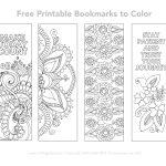 Free Printable Bookmarks To Color   Smitha Katti   Free Printable Bookmarks Templates