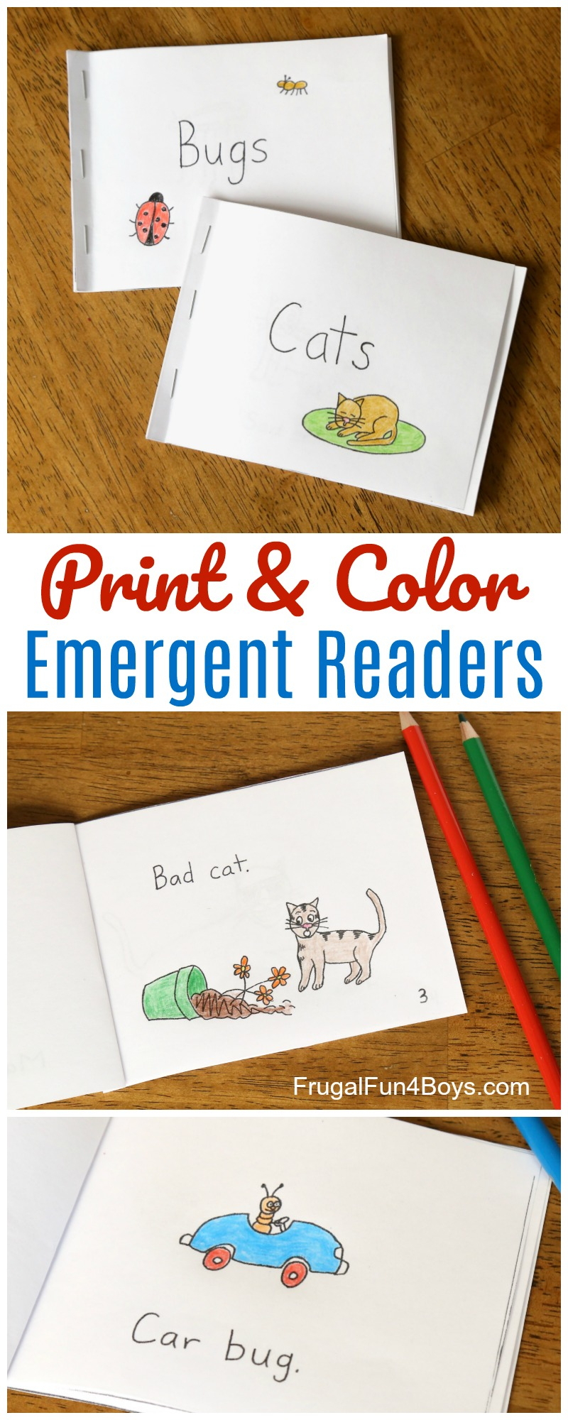 Free Printable Books For Beginning Readers - Level 1 (Easy) - Frugal - Free Printable Kindergarten Level Books