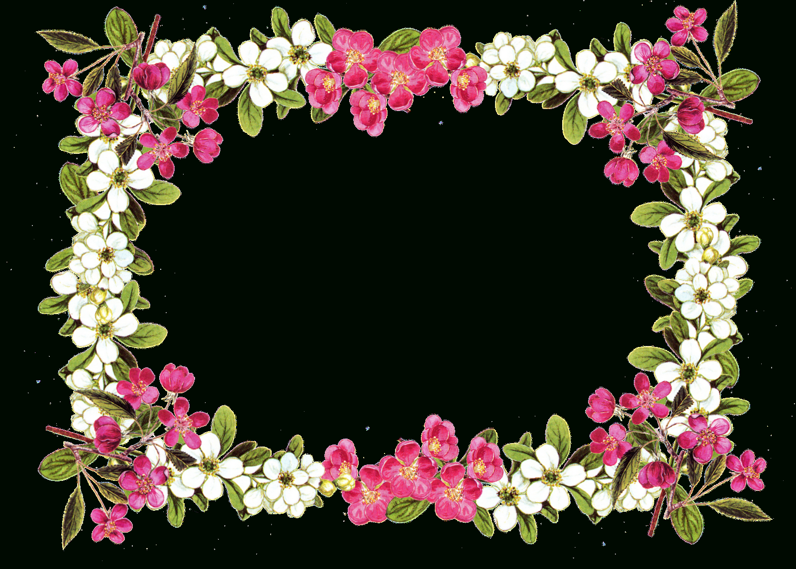 Free Printable Borders Digital Flower Frame Png Free Image - Free Printable Borders