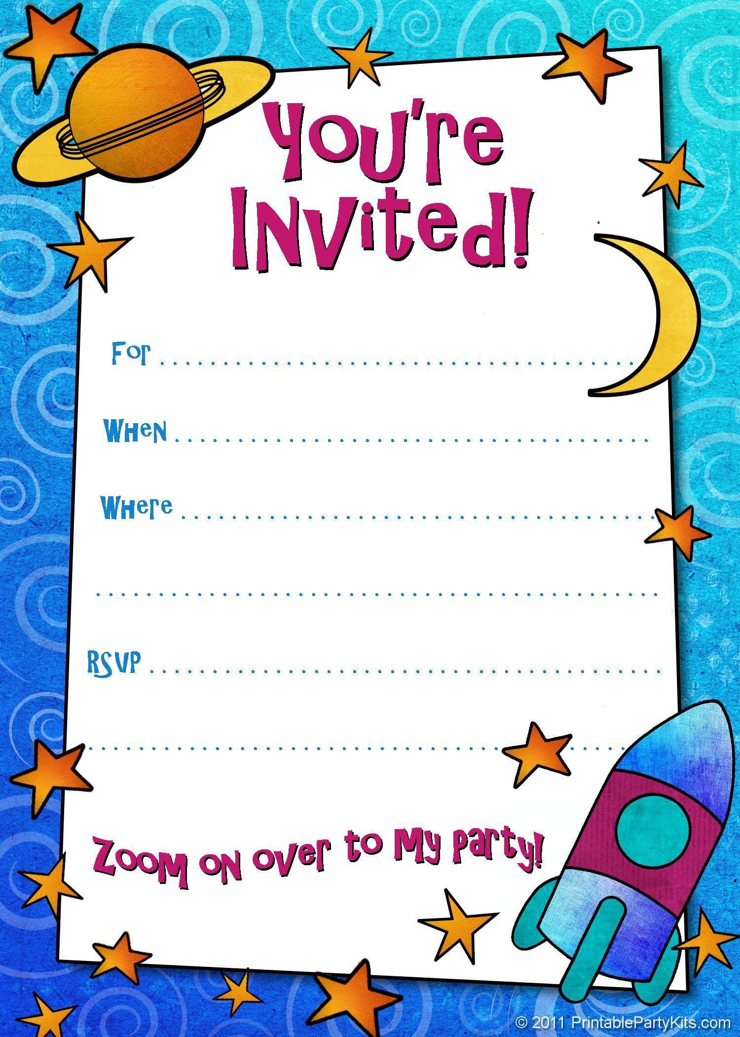 Free Printable Boys Birthday Party Invitations | Birthday Party - Free Printable Birthday Invitation Cards