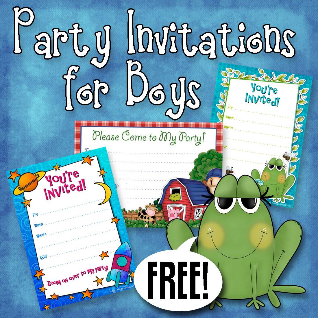 Free Printable Boys Birthday Party Invitations | Party Printables - Free Printable Boy Birthday Invitations