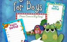 Free Printable Toddler Birthday Invitations
