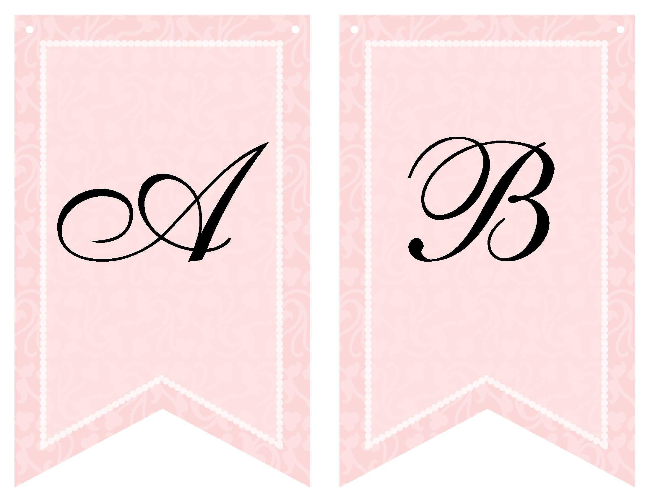 Free Printable Bridal Shower Banner   Vow Renewal   Pinterest - Free Bridal Shower Printable Decorations