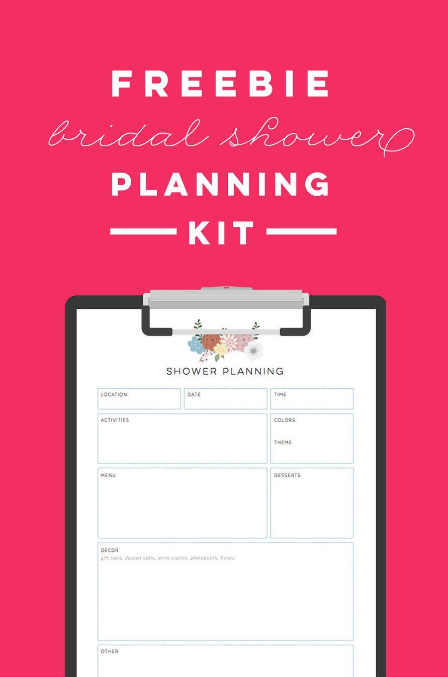 Free Printable Bridal Shower Planning Kit - To Do List, Timeline - Free Bridal Shower Printable Decorations