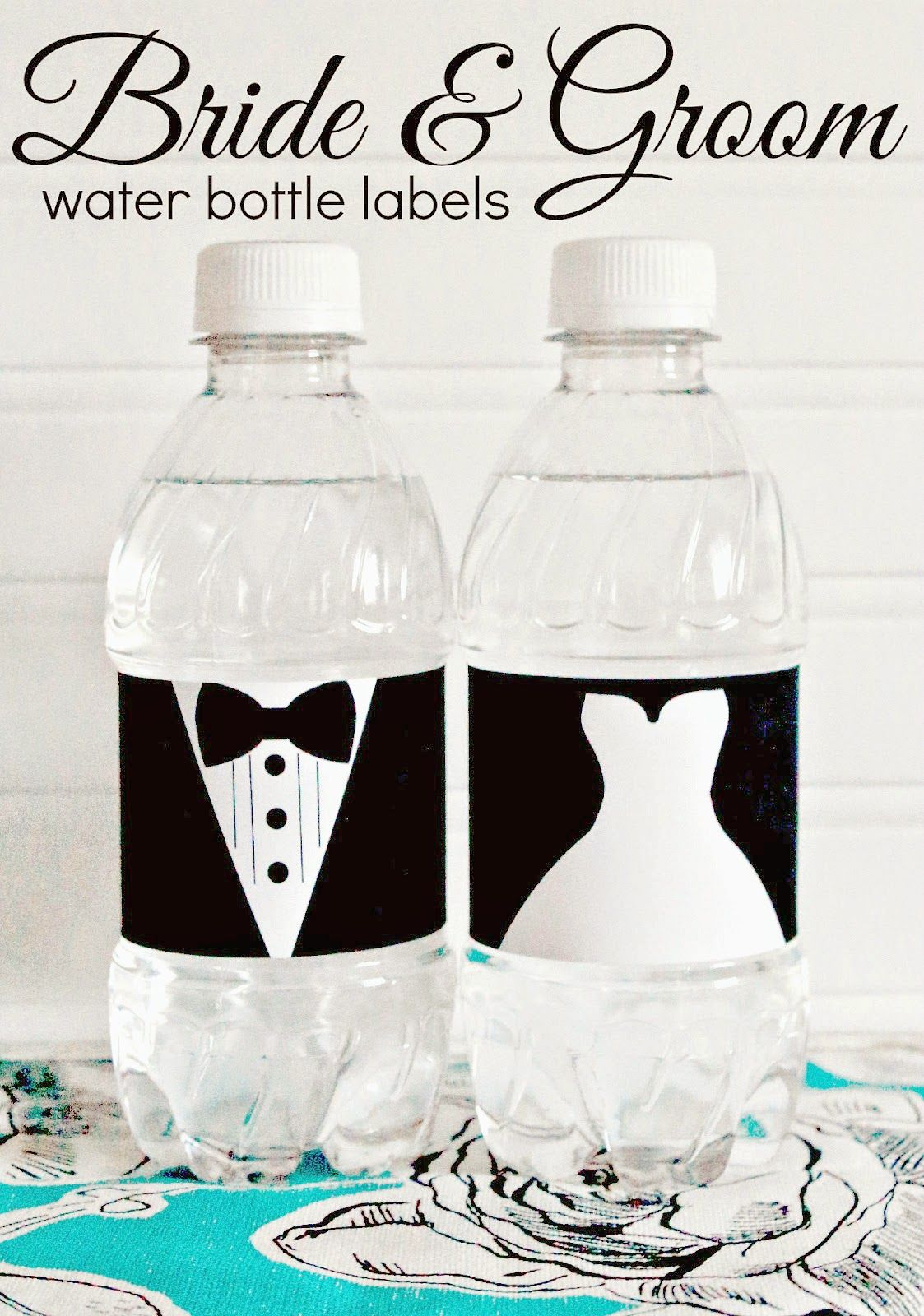 Free Printable - Bride And Groom Water Bottle Labels - Great For - Free Printable Water Bottle Labels Bachelorette