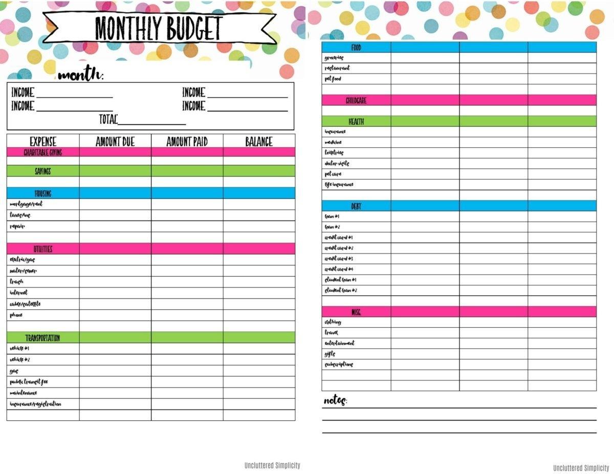 Free Printable Budget Planner   Bestprintable231118 - Free Printable Home Budget Planner