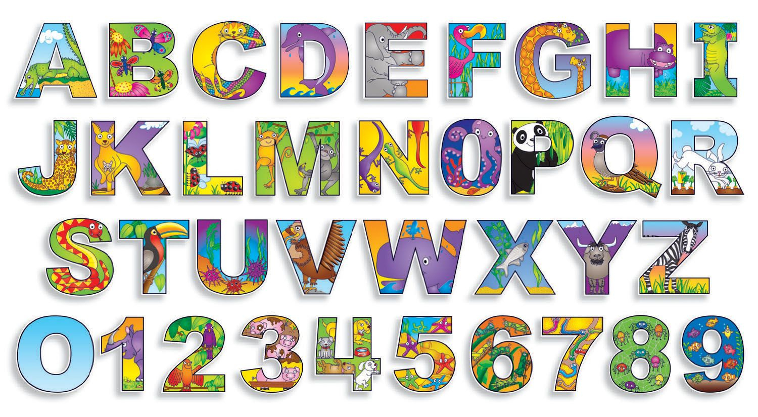Free Printable Bulletin Board Letters | Illustrated+Alphabet+%26+ - Free Printable Bulletin Board Letters