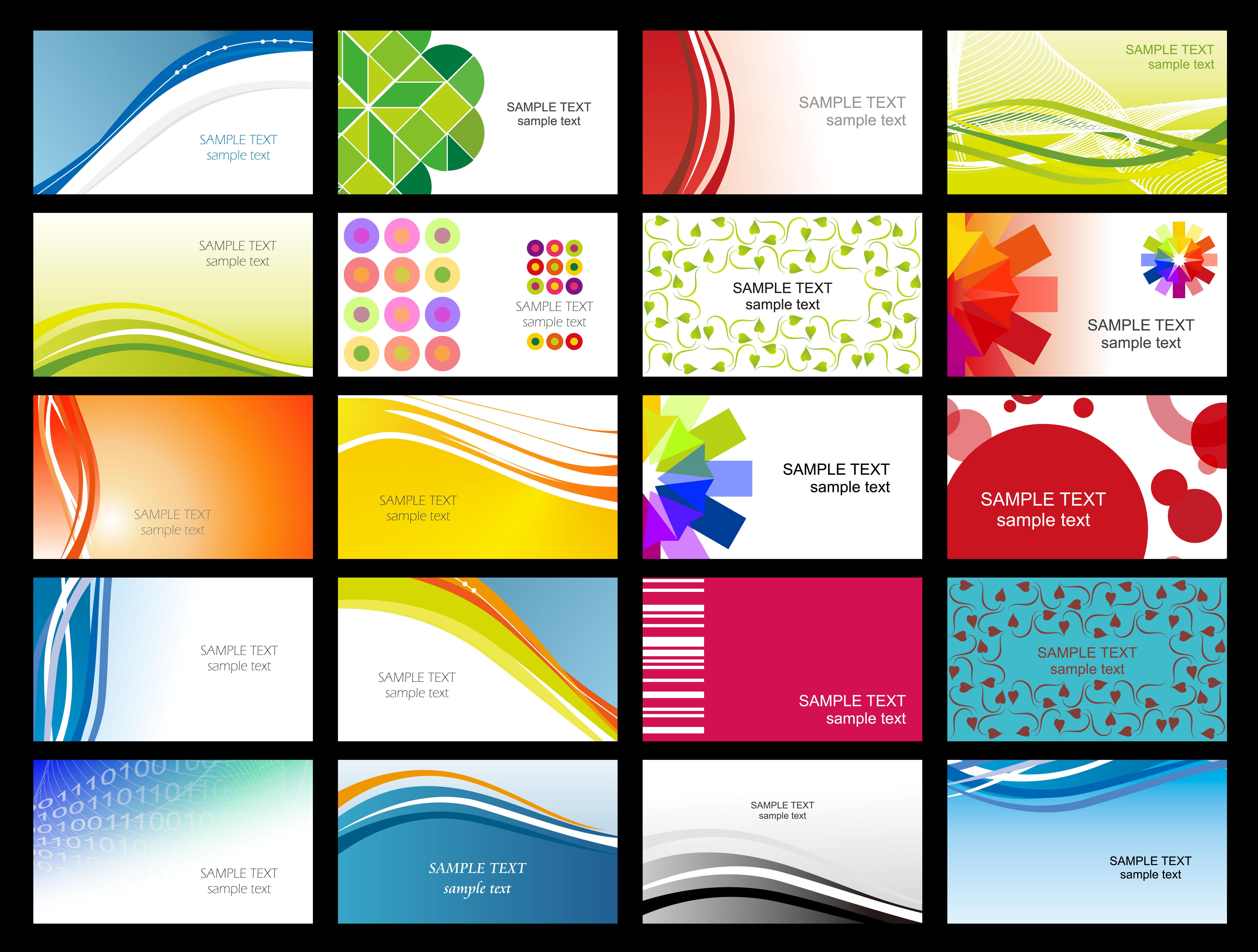 Free Printable Business Card Templates Sample | Get Sniffer - Free Printable Business Cards