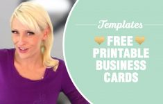 Free Printable Business Cards - Templates Included - Youtube - Free Printable Business Templates