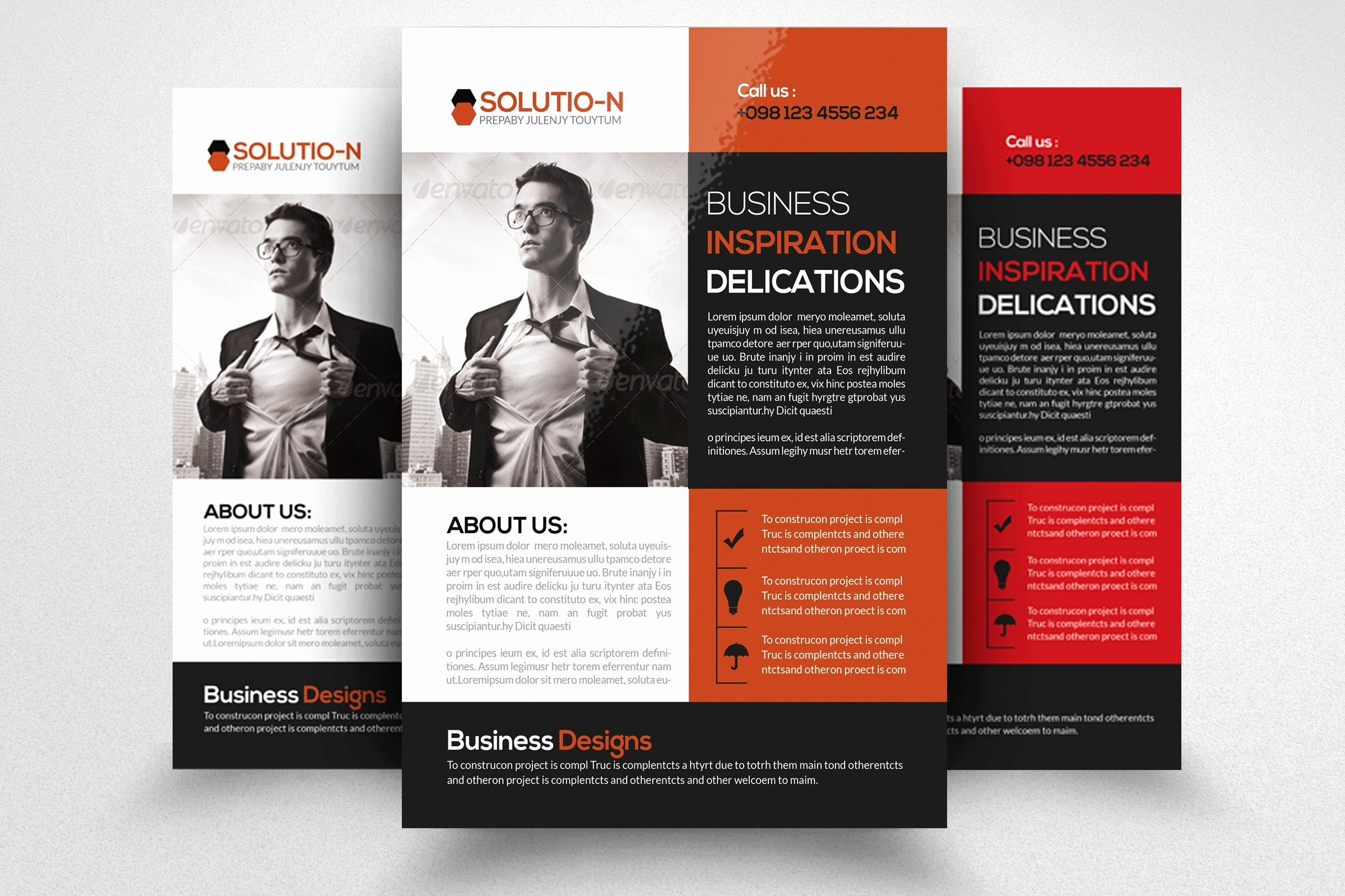 Free Printable Business Flyers Beautiful Red Brochure Template Free - Free Printable Business Flyers